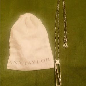 Beautiful pave long Ann Taylor necklace